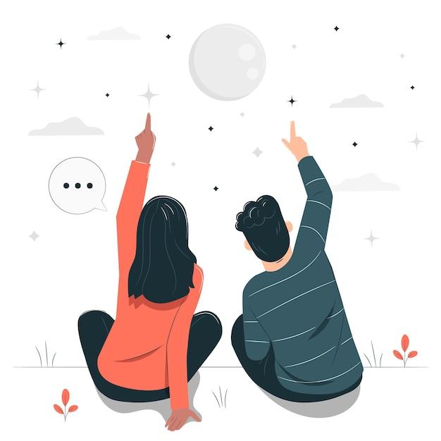 Illustration De Concept De Comptage Des étoiles Vecteur gratuit