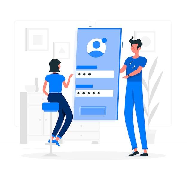 Illustration De Concept De Connexion Mobile Vecteur gratuit