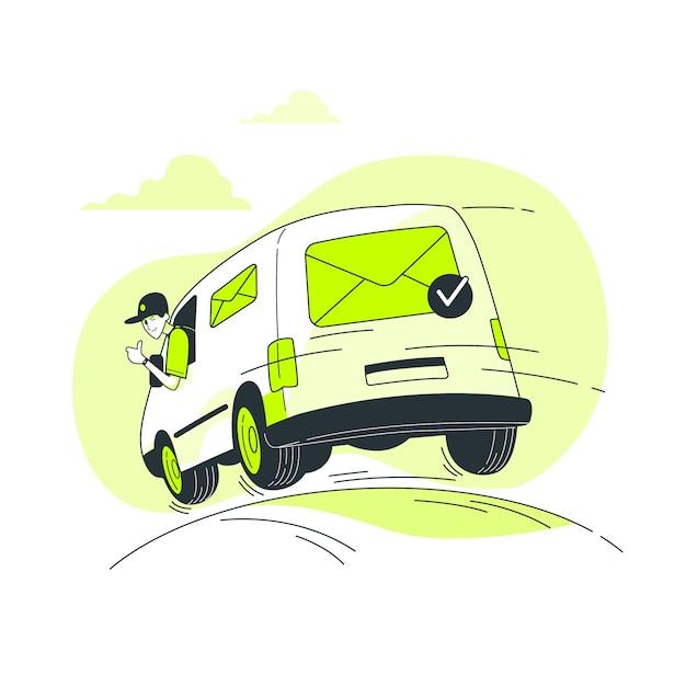 Illustration de concept de courrier envoyé Vecteur gratuit