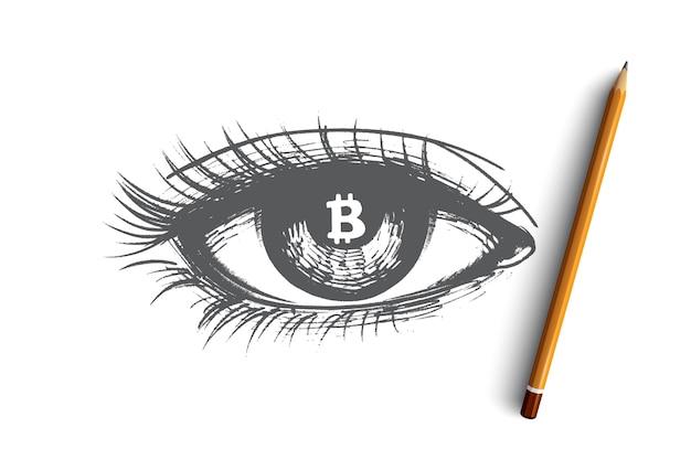 Illustration De Concept De Crypto-monnaie Vecteur Premium