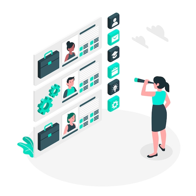 Illustration de concept d'embauche Vecteur gratuit