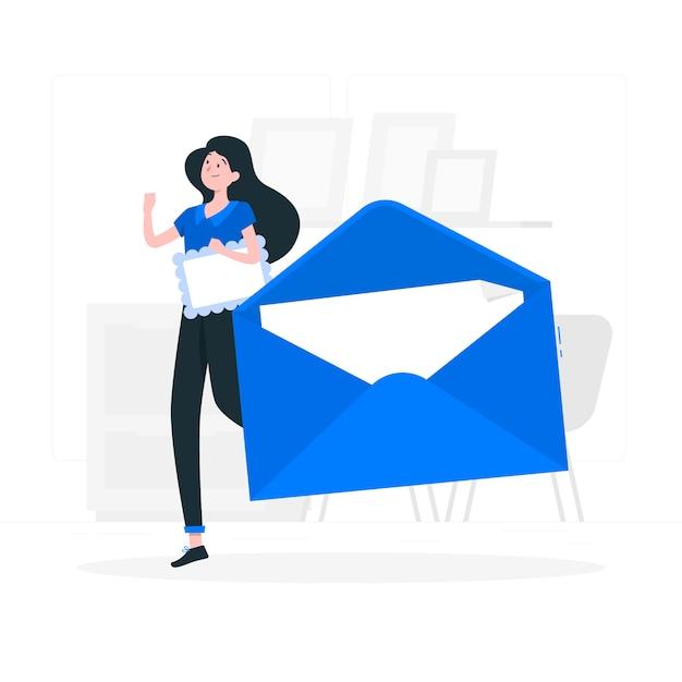 Illustration De Concept D'enveloppe Vecteur gratuit