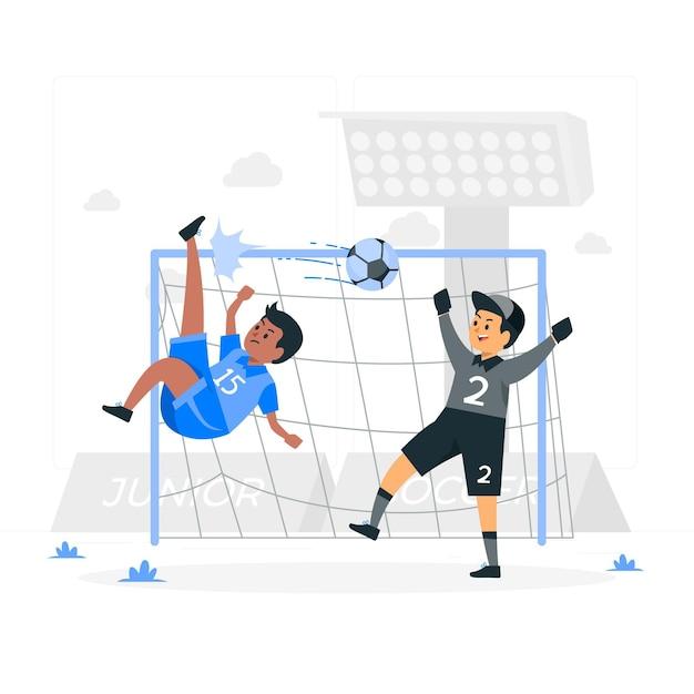 Illustration De Concept De Football Junior Vecteur gratuit