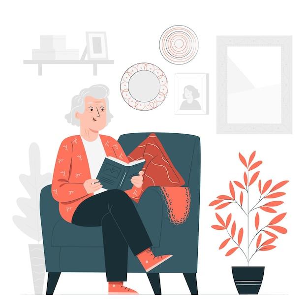 Illustration De Concept De Grand-mère Vecteur gratuit