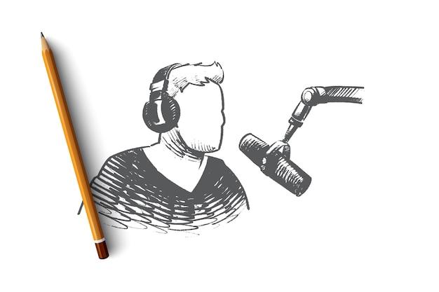 Illustration De Concept De Jour Radio Vecteur Premium