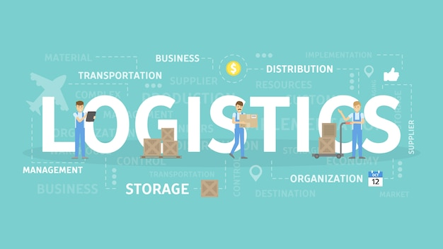 Illustration De Concept De Logistique. Vecteur Premium