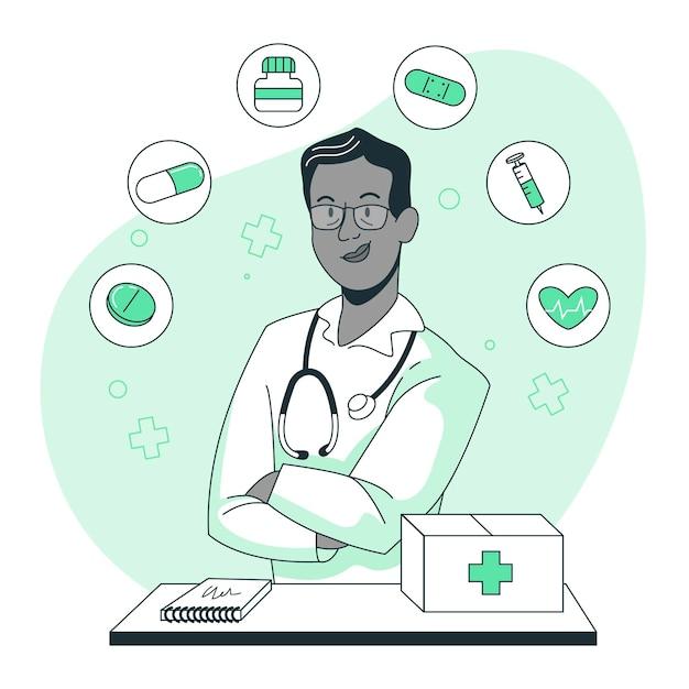 Illustration De Concept De Médecine Vecteur gratuit