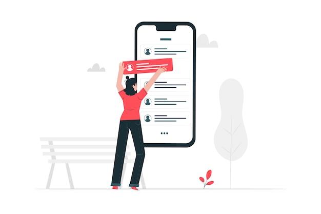 Illustration de concept de messages Vecteur gratuit