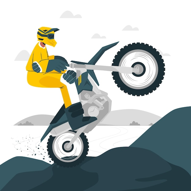 Illustration De Concept De Motocross Vecteur gratuit