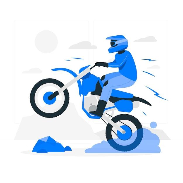 Illustration De Concept De Motocross Vecteur gratuit