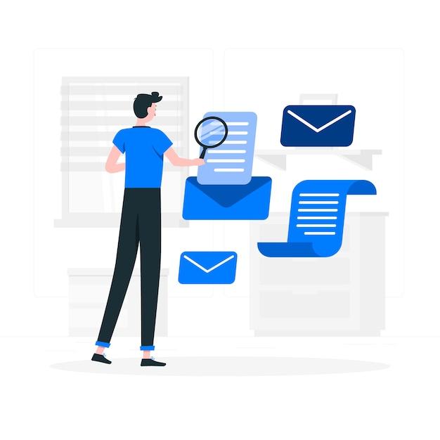 Illustration De Concept De Newsletter Vecteur gratuit
