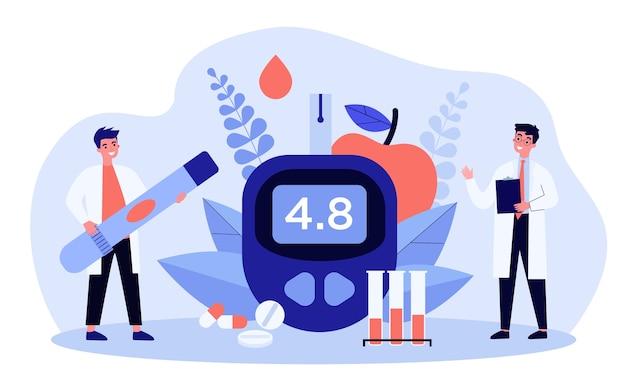 Illustration De Concept De Niveau De Glucose Et De Diabète Vecteur Premium