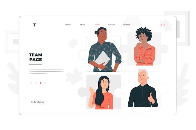 Illustration De Concept De Page D'équipe Vecteur gratuit