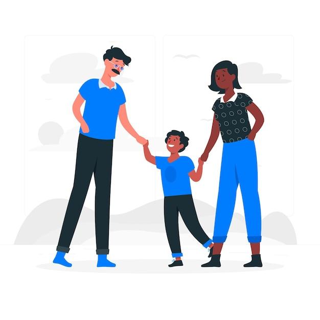 Illustration De Concept De Parents Vecteur gratuit