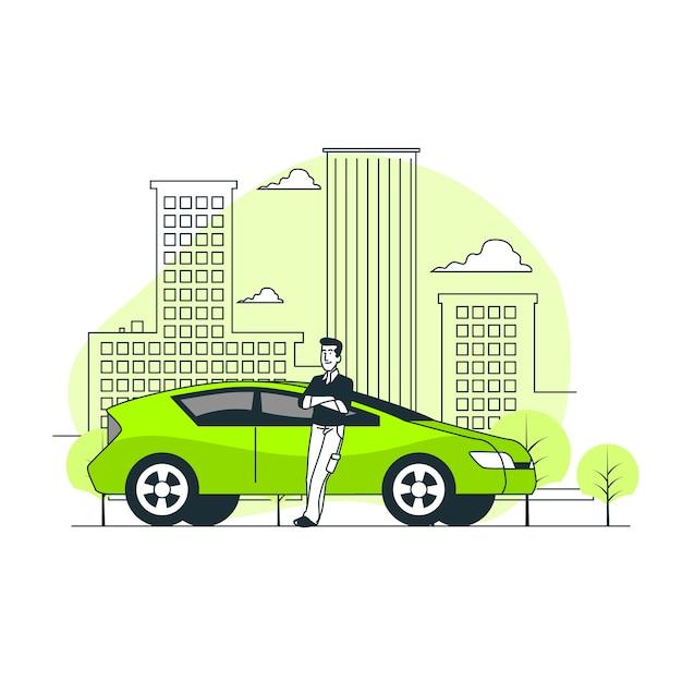 Illustration De Concept De Pilote De Ville Vecteur gratuit
