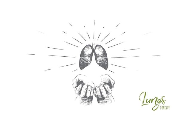 Illustration De Concept De Poumons Vecteur Premium