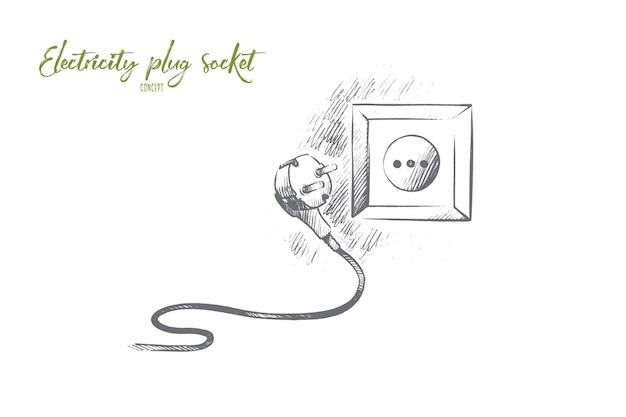 Illustration De Concept De Prise De Courant électrique Vecteur Premium