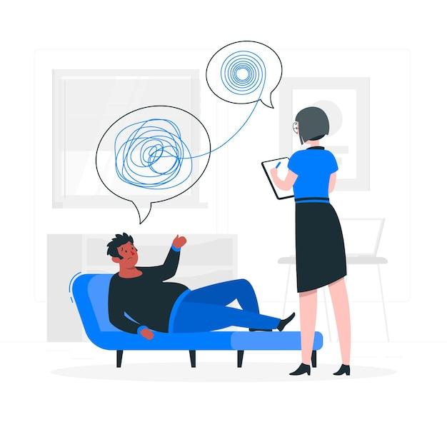 Illustration De Concept De Psychologue Vecteur gratuit