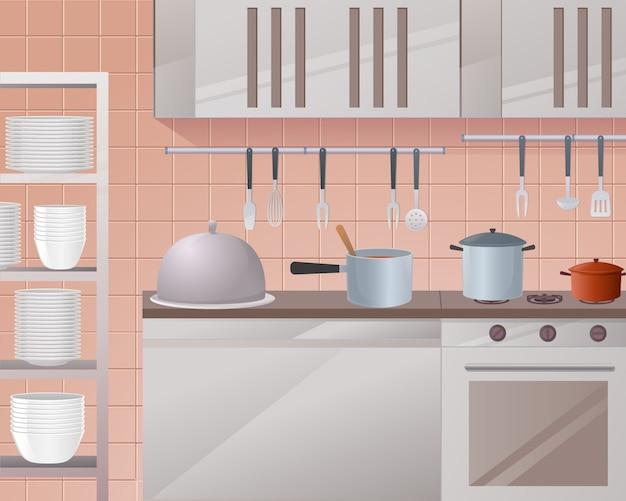 Illustration de concept de la restauration Vecteur Premium