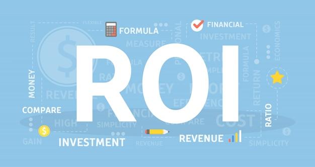 Illustration De Concept De Retour Sur Investissement. Vecteur Premium