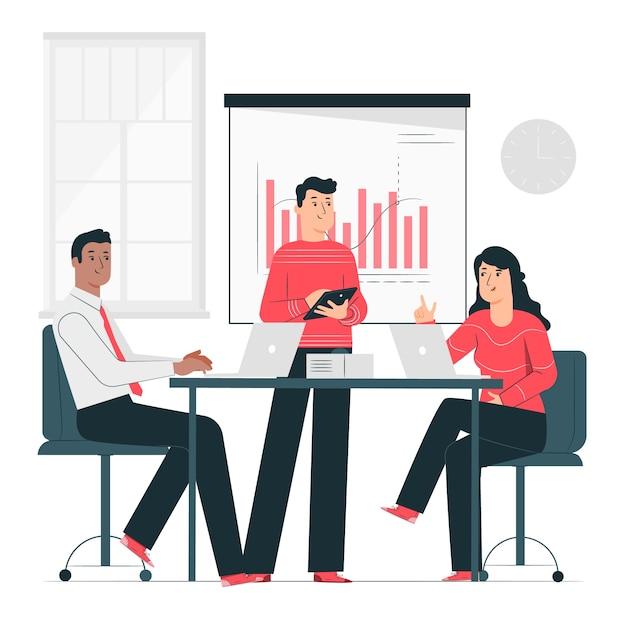 Illustration de concept de réunion Vecteur gratuit