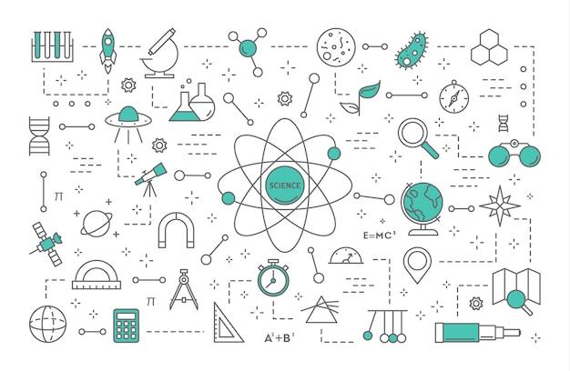 Illustration De Concept Scientifique Vecteur Premium