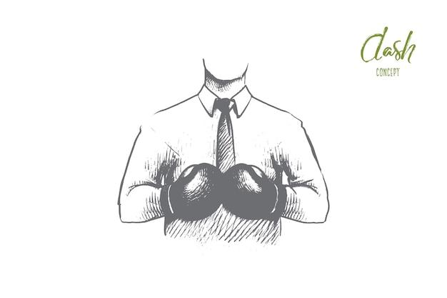 Illustration De Concept De Tableau De Bord Vecteur Premium