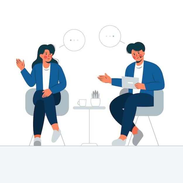 Illustration De Concept De Talk-show Vecteur Premium