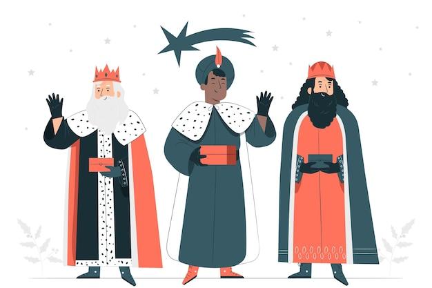 Illustration De Concept De Trois Sages Vecteur gratuit