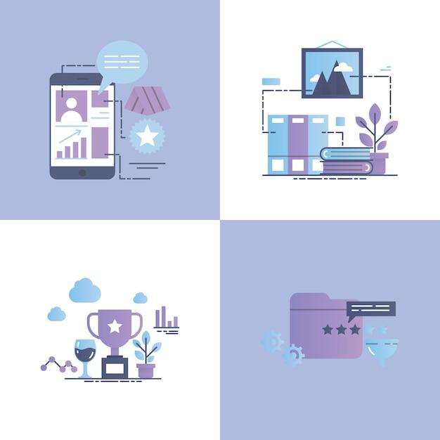 Illustration de concept de vecteur d'appréciation Vecteur Premium