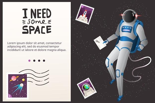 Illustration De Concept De Voyage Spatial. Vecteur Premium