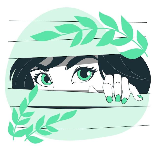Illustration De Concept D'yeux Vecteur gratuit