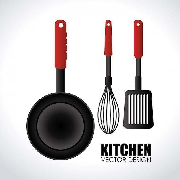 Illustration de la conception de cuisine gris Vecteur gratuit