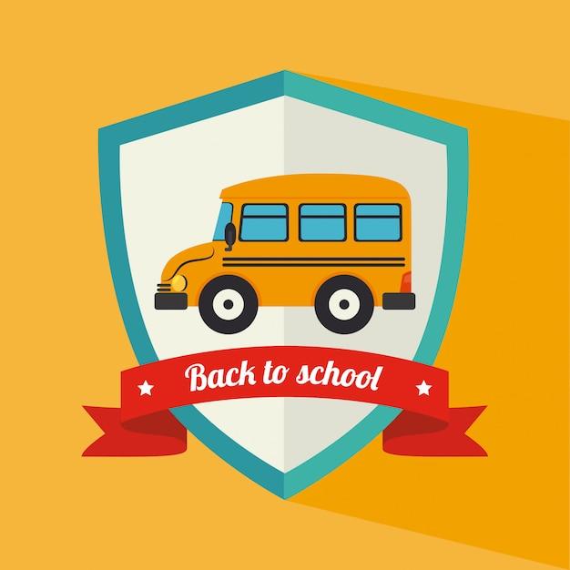 Illustration de conception d'école jaune Vecteur gratuit