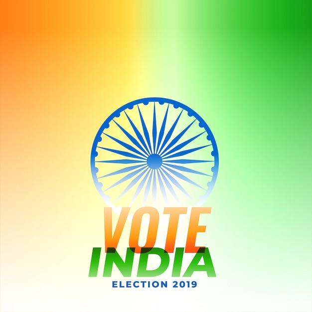 Illustration de conception électorale indienne Vecteur gratuit