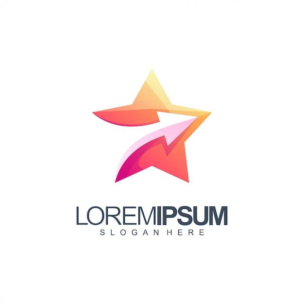 Illustration de conception de logo étoiles Vecteur Premium
