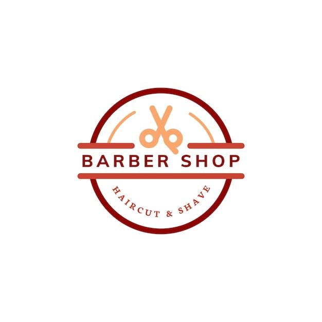 Illustration de conception de logo de magasin de coiffeur Vecteur gratuit
