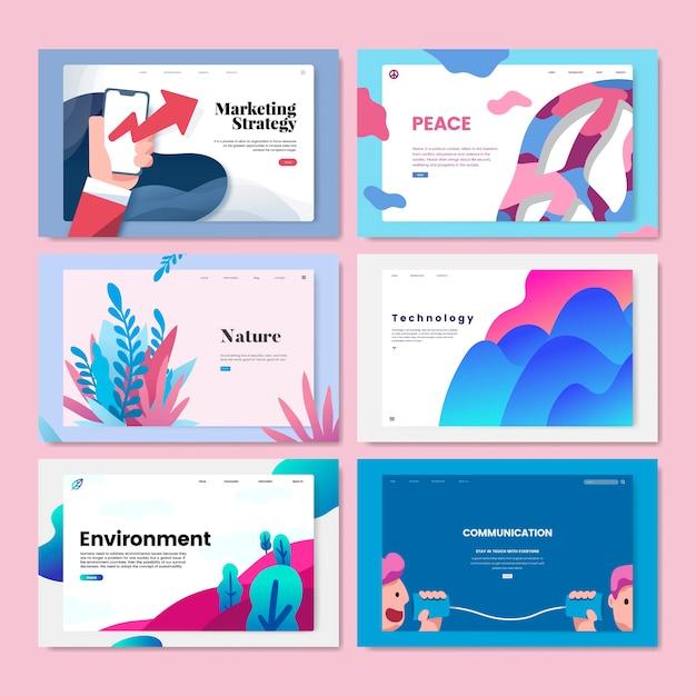 Illustration de conception de modèle flyer coloré Vecteur gratuit