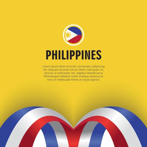 Illustration de conception de modèle de vecteur de fête de l'indépendance des philippines Vecteur Premium