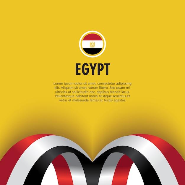 Illustration de conception de modèle de vecteur de jour de l'indépendance de l'égypte Vecteur Premium