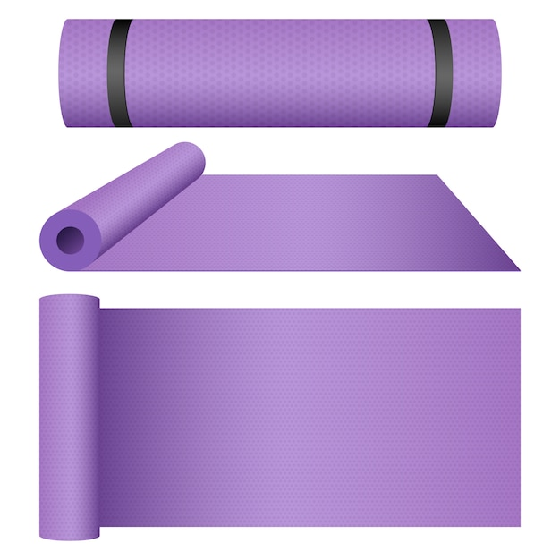 Illustration De Conception De Tapis De Yoga Isolé Sur Fond Blanc Vecteur Premium