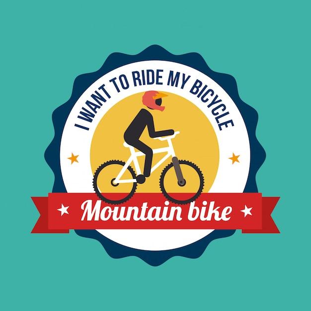 Illustration de conception verte de vélo Vecteur gratuit