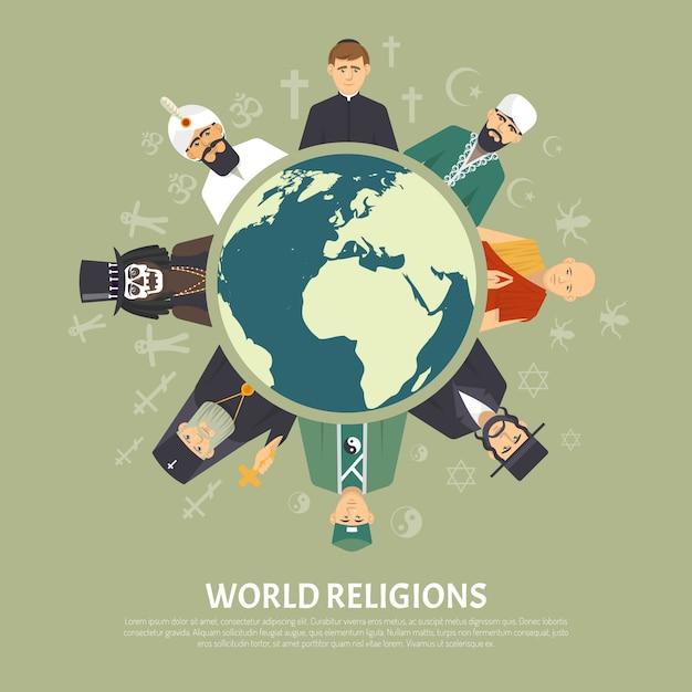 Illustration De Confession De Religion Vecteur gratuit