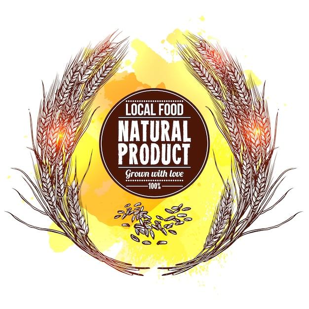 Illustration de couronne de blé Vecteur gratuit