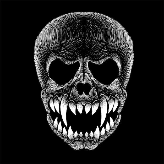 Illustration De Crâne Vecteur Premium