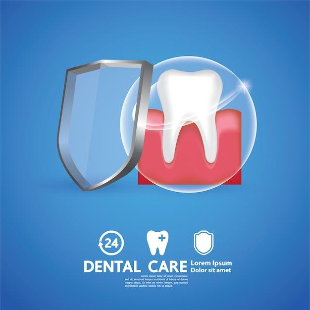 Illustration Créative De Soins Dentaires. Vecteur Premium