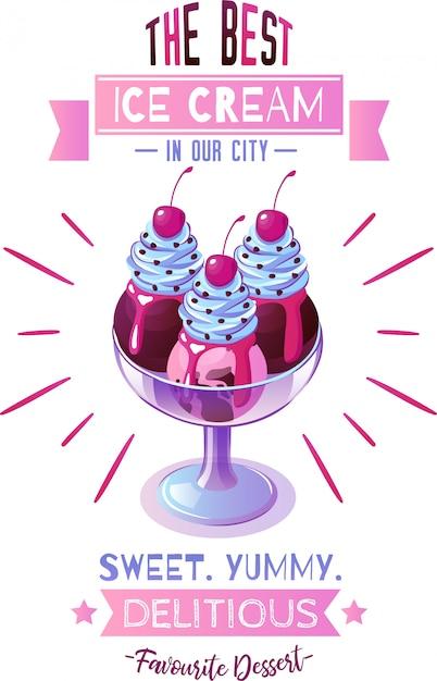 Illustration De Crème Glacée Vecteur gratuit