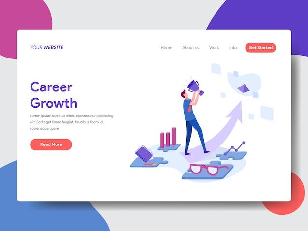 Illustration de la croissance de carrière pour la page web Vecteur Premium