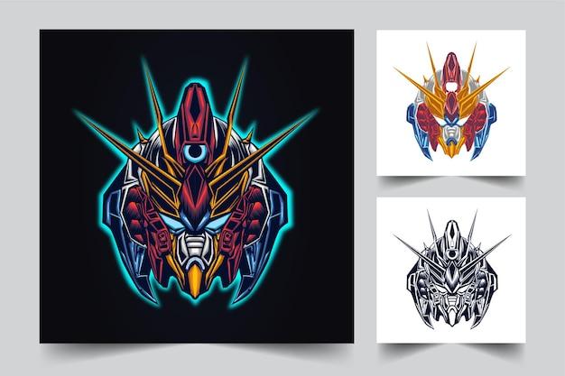 Illustration Dart Robotique Gundam Vecteur Premium