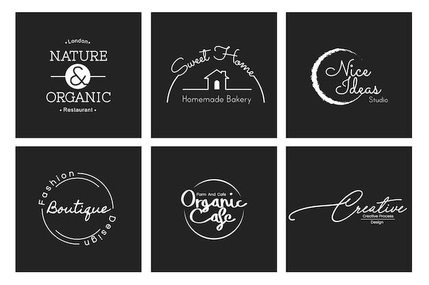 Illustration de bannière de timbre de logo de boutique de commerce Vecteur gratuit